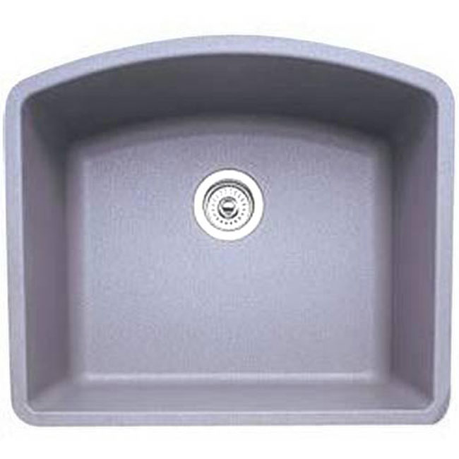 "Blanco 440173 Diamond 24"" x 21"" Single Bowl Silgranit Undermount Kitchen Sink Metalic Gray"