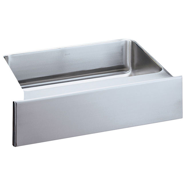 "Elkay ELUHFS2816 Lustertone 28"" x 16"" Single Bowl Undermount Kitchen Sink with Front Apron Stainless Steel"